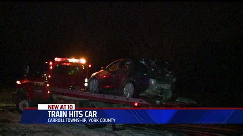 Train Crashes Into Car Stalled On Tracks