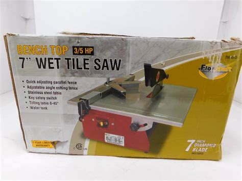 Florcraft Tile Saw With Stand 7 by Florcraft 7 Quot Bench Top Tile Saw Store Returned Items