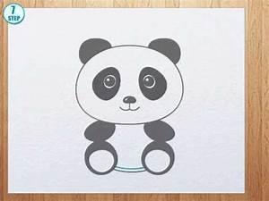 How to draw a panda bear - YouTube