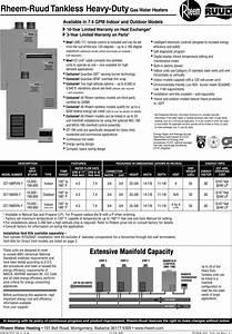 Rheem Ruud Gt 199dvn 1 Users Manual
