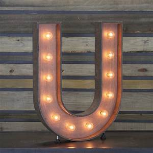 Edison Marquee Letter QuotUquot Town Country Event Rentals