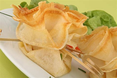 filo pastry canape royalty free stock photography image