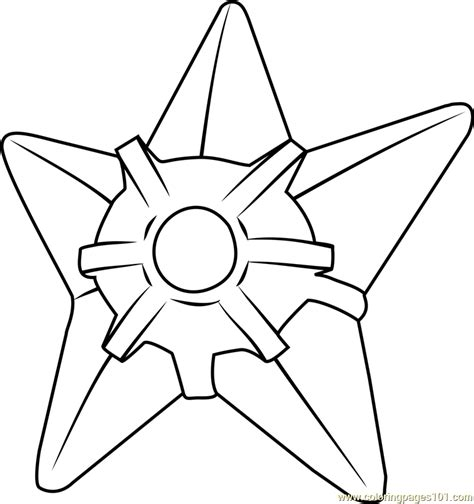 staryu pokemon coloring page  pokemon coloring pages