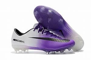 Soccer Cleats Boots US Size 6.5-11, EU Size 39-45 Purple White