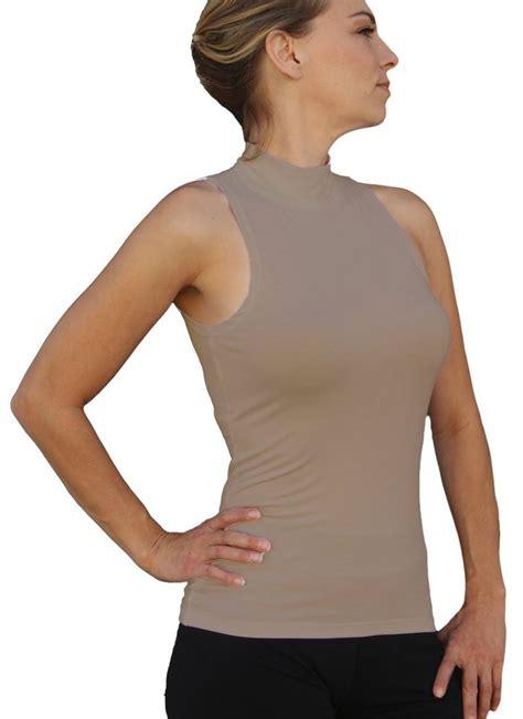 best thumbnail ooh la la sleeveless mock turtleneck top with cut in