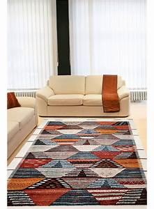 Tapis Salon Moderne : tapis salon berber orange tapis design ~ Teatrodelosmanantiales.com Idées de Décoration