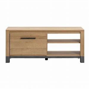 Meuble Chene Clair : meuble tv finn ch ne clair 52x124x40 cm leen bakker ~ Edinachiropracticcenter.com Idées de Décoration