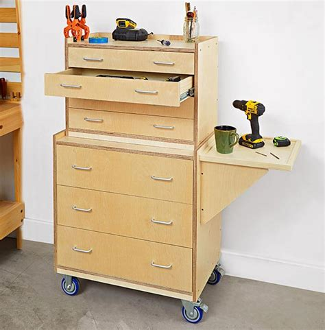 shop in a box tool cabinet tool chest woodworking plan from wood magazine
