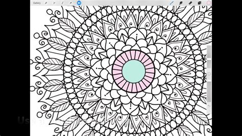 ipad planning mood mandala tracker colouring  procreate