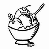 Sundae Ice Cream Clipart Clip Library sketch template