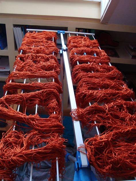 spaghetti yarn farm cotton yarn drying  dyeing