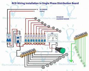 A Complete Diagram Of Single Phase Distribution Board With Double Pole Mcb Wiring  Rcd Wiring