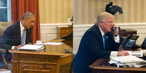Donald Trump Oval Office Desk Photos