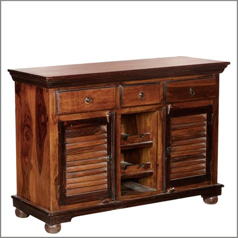 Solid Wood Sideboards by Shaker Buffet Wine Rack Solid Wood 3 Drawer Sideboard