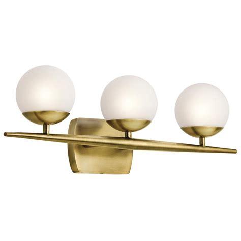 Halogen Bathroom Light Fixtures by Kichler 45582nbr Jasper Modern Brass Halogen 3