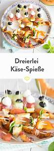 Party Snacks Vegetarisch : dreierlei spie e mit mozzarella feta und halloumi rezept food snack party food ~ Eleganceandgraceweddings.com Haus und Dekorationen