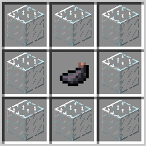 minecraft black glass pane recipe