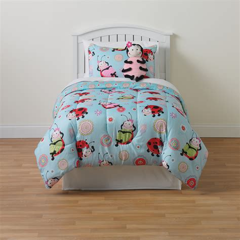 furry friend ladybug 3 pc twin comforter set home bed
