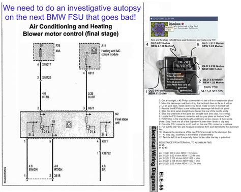 e46 heater wiring diagram how to check blower motor resistor bimmerfest bmw forums