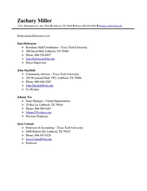 professional references page template httpwww