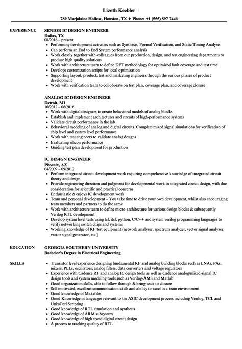 IC Design Engineer Resume Samples | Velvet Jobs