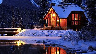 Winter Cozy Lodge Mountain Canada Lake Park