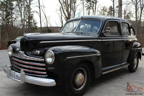 1946 Ford Super Deluxe.....rebuilt Flat-head Engine