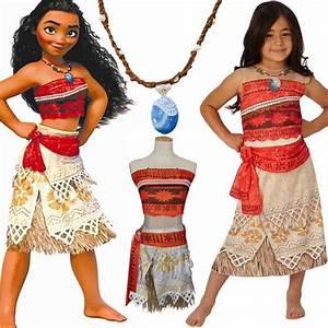 Moana Disney Costume Hawaiian Princess Fancy Cosplay Dress ...