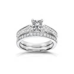 affordable wedding ring sets affordable antique wedding ring set on 9ct white gold jeenjewels