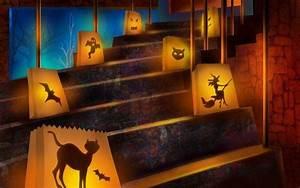 Gruselige Halloween Deko Selber Machen : gruselige halloween deko papier laterne mit katzen silhouetten gruselgeburtstag pinterest ~ Yasmunasinghe.com Haus und Dekorationen