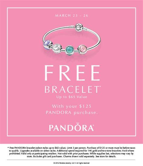Pandora Jewelry Free Bracelet Promotion 2017 - Style Guru