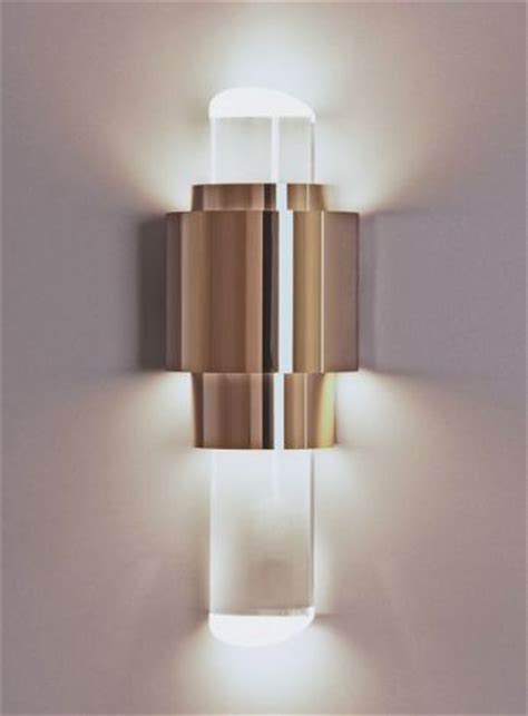 decorative wall light at end of corridor and strategic
