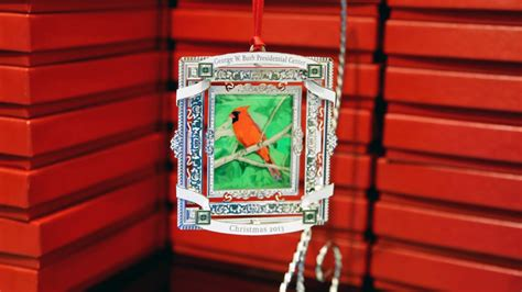 george w bush creates christmas ornament 171 cbs dallas fort worth