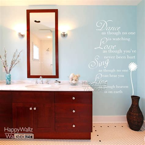 The colour and size of the vinyl used in all images are for display purposes only and not. Dance Love Sing Live Quote Wall Sticker Life Motivational Quote Wall Decal Custom Colors ...
