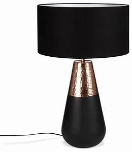 Lampe à Poser Cuivre : mulshi lampe avec abat jour noir cuivre h69cm ~ Dailycaller-alerts.com Idées de Décoration