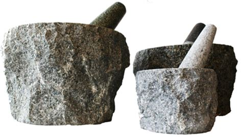 granite quot rock quot pestle mortar sticks and stones