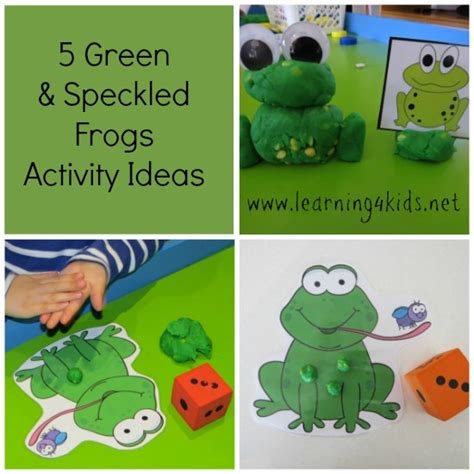 5 green amp speckled frogs activity ideas learning 4 778   5 Green Speckled Frogs Activities