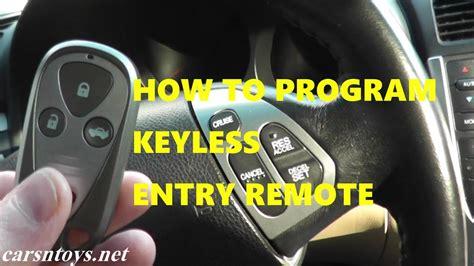 program keyless entry remote key fob  acura tl