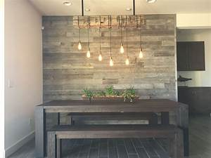 Reclaimed wood accent wall Wood from RECwood Planks in