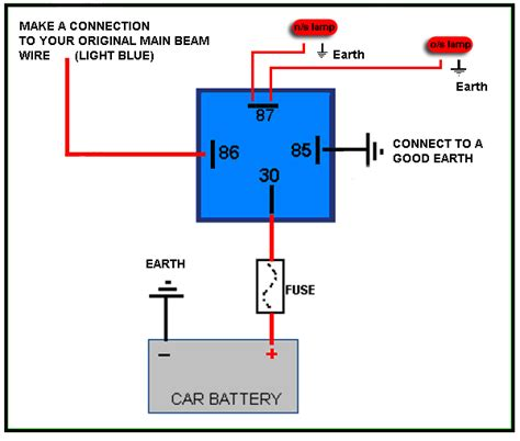 Wiring Diagram Pin Relay Driving Lights For Electrical