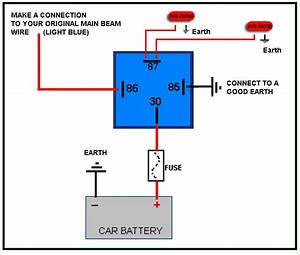 Wiring Diagram 4 Pin Relay Driving Lights For   Relay