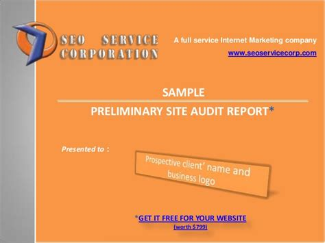 seo for your website sle seo website audit report