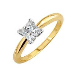 princess cut wedding rings 14k yellow gold princess cut wedding ring ipunya