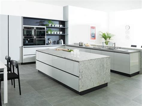 cuisines porcelanosa highly organized contemporary kitchen designs bending to