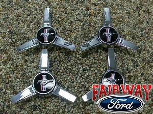 05 06 07 08 09 Mustang OEM Ford Parts Spinner Style Caps w/ Pony Logo 4pc Set | eBay