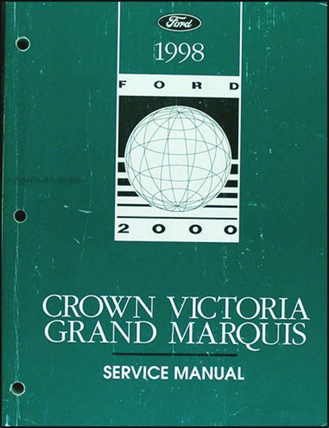 ford crown victoria grand marquis shop manual mercury