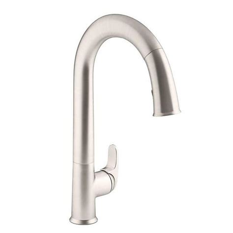 touchless kitchen faucets kohler sensate ac powered touchless kitchen faucet in