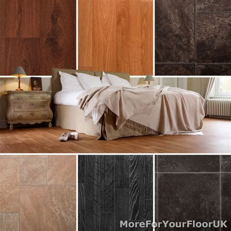 Quality Vinyl Flooring Roll CHEAP Wood & Tile Kitchen