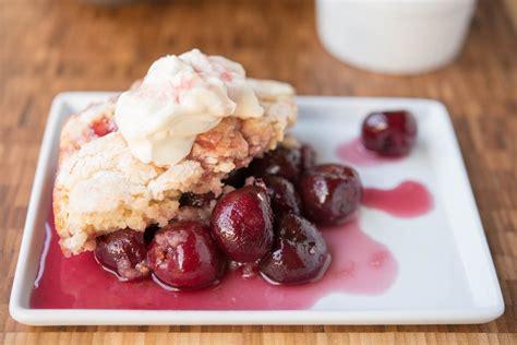 cherry cobbler sweet cherry cobbler recipe dishmaps