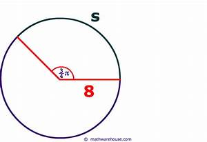 S  R  U03b8 Formula And Equation For The Central Angle In Radian Measure